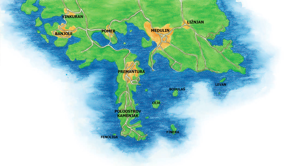 Mapa Premantura Zdroj Tereza Sadilkova Relax