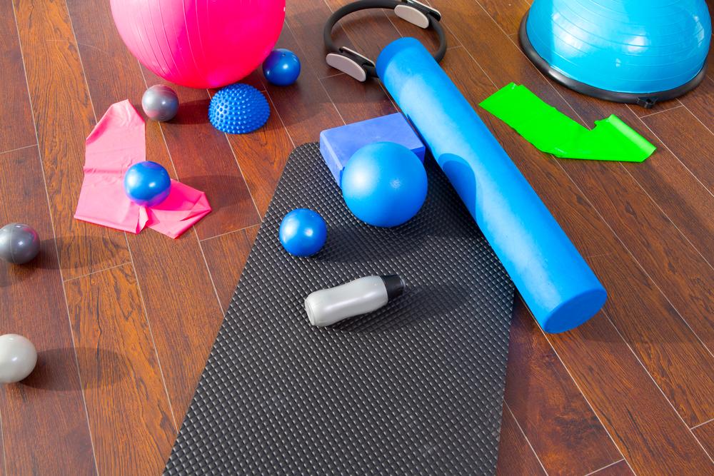 Pomôcky na cvičenie. Zdroj: Shutterstock