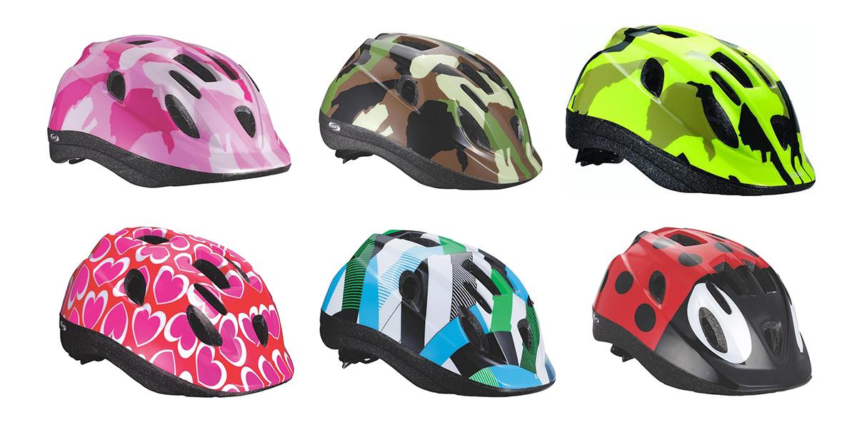 Detské cyklistické prilby.