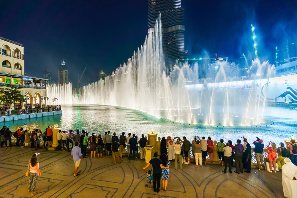 Fontána v Dubaji. Foto: Shutterstock