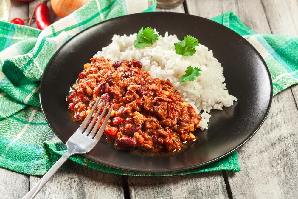 Mexická fazuľa s ryžou. Foto: Shutterstock
