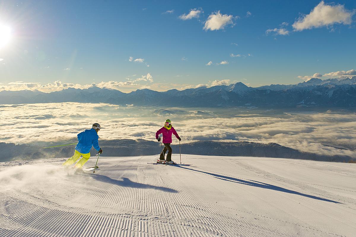 V Korutánsku môžete lyžovať všade s jedným skipasom. Foto: ©Franz Gerdl