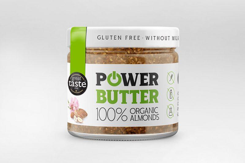 Bio mandľové maslo od Powerlogy ocenené Great Taste Awards