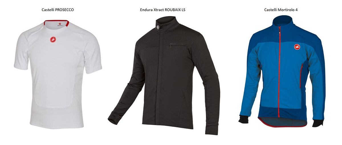 Vrstvenie cyklistického oblečenia.