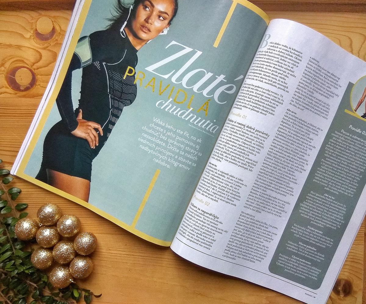 Bežecký časopis Running sa na veľa stránkach venuje aj stále aktuálnej téme chudnutia.