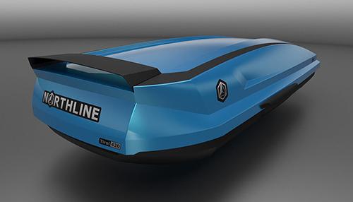 Strešný nosič na auto Northline tirol se 420 blue-black