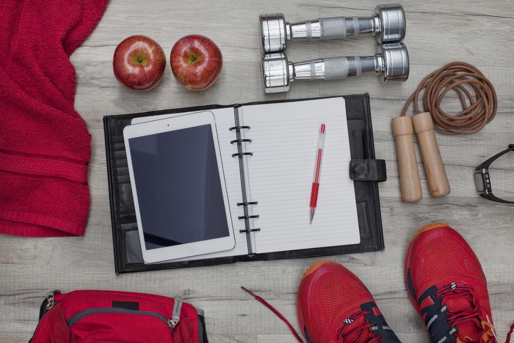 Fitness denník. Foto: Shutterstock