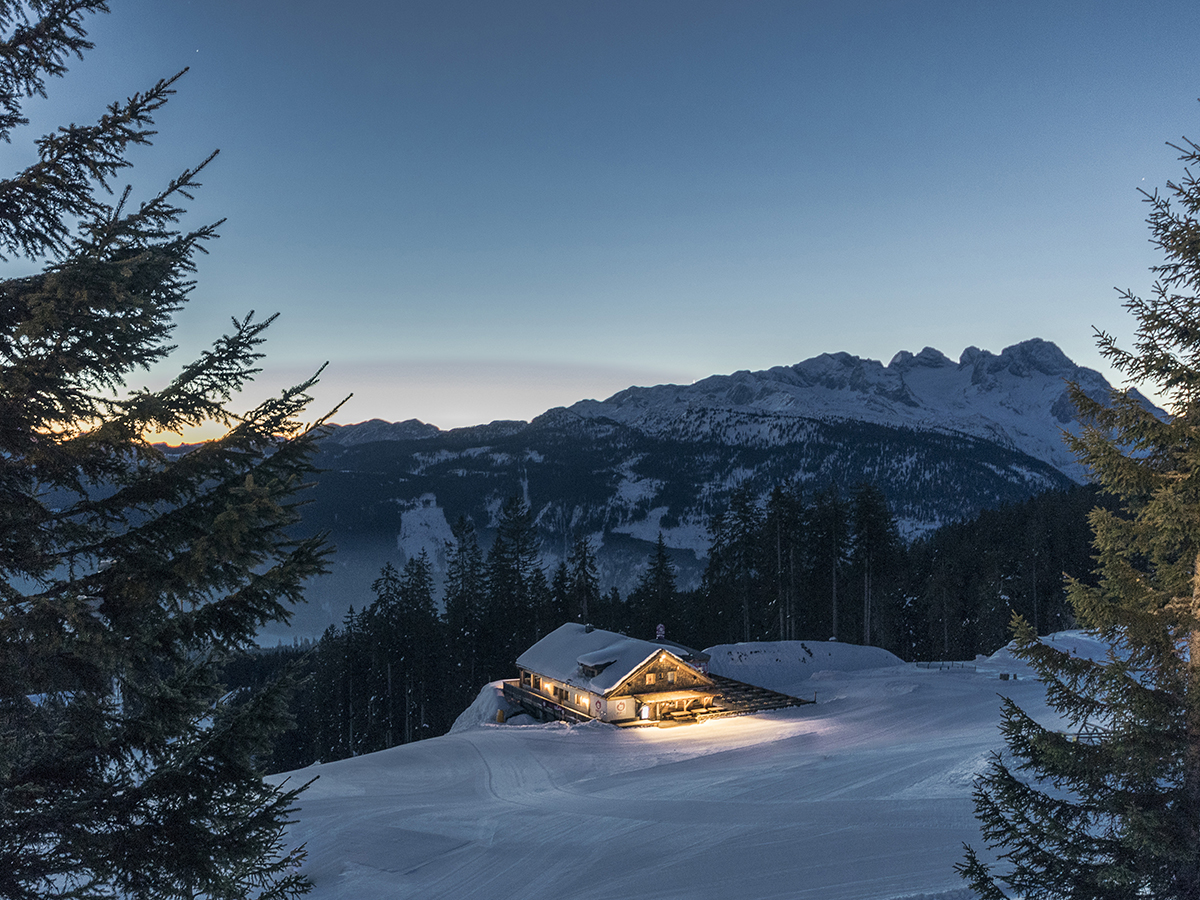 Chata v regióne Dachstein West. Foto: Oberoesterreich Tourismus, David Lugmayr