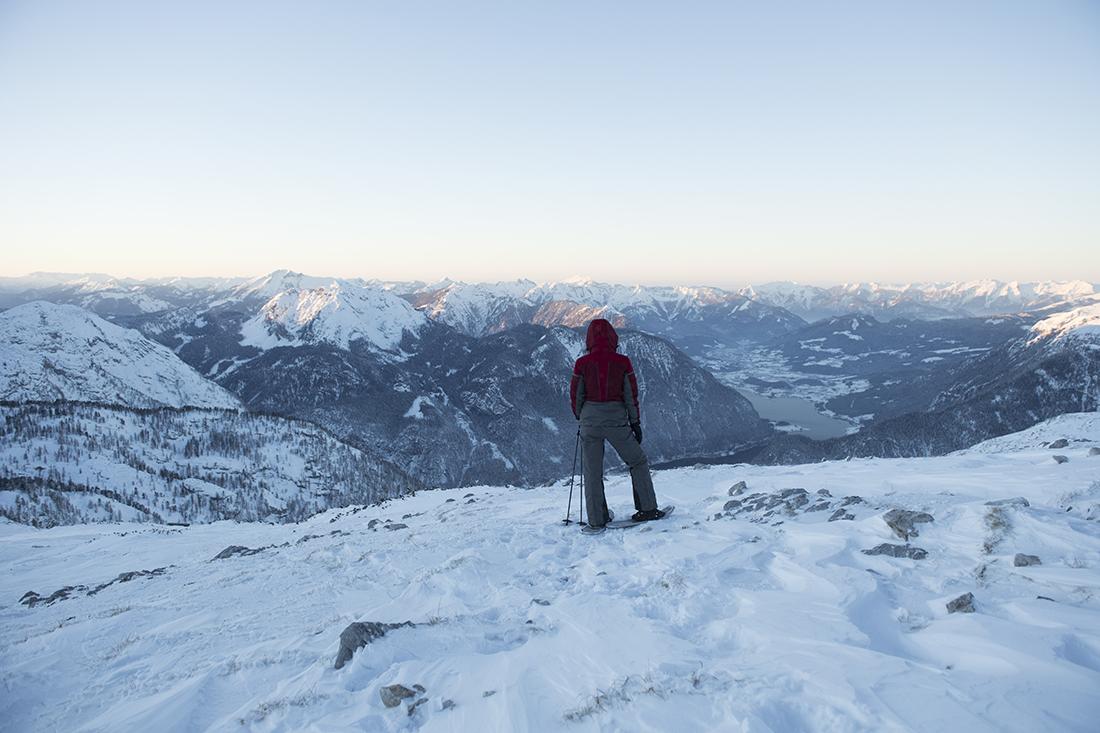 Prechádzka na snežniciach, Krippenstein. Foto: Oberoesterreich Tourismus, David Lugmayr