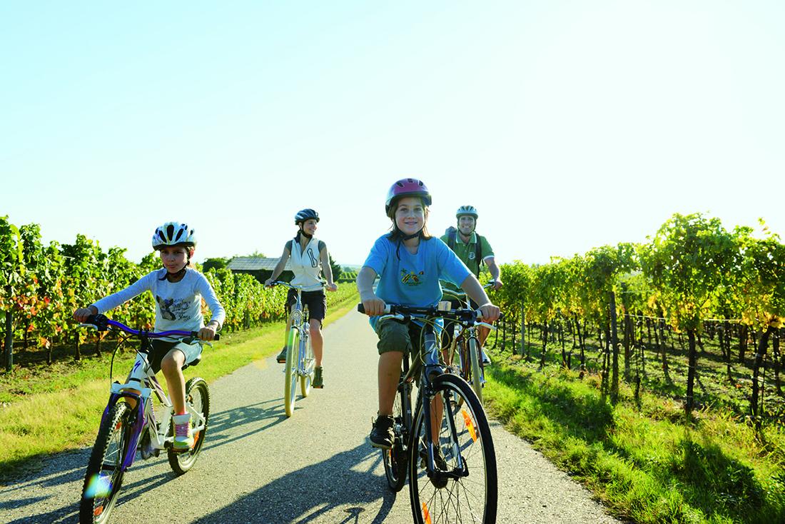 Bicyklový výlet s rodinou. Foto: ©Burgenland Tourismus/Peter Burgstaller