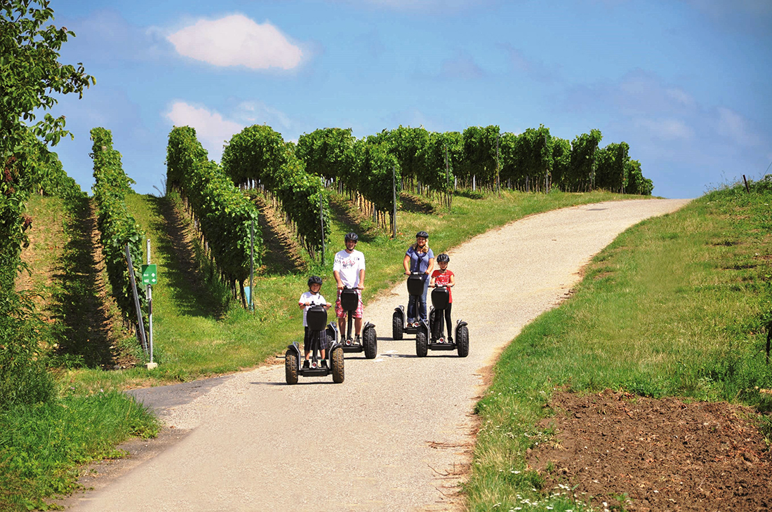 Segwaytours Burgenland. Foto: Sonnenland Draisinentour