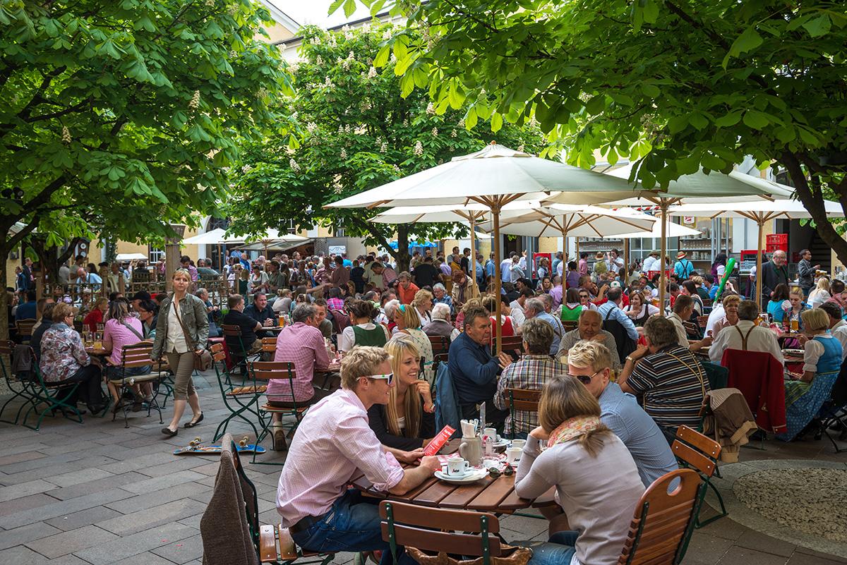 Pivná záhrada Stiegl Brauwelt. Foto: ©Salzburg Tourismus