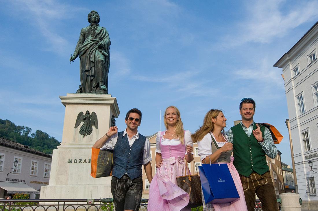 Salzburské kostýmy. Foto: ©Salzburg Tourismus