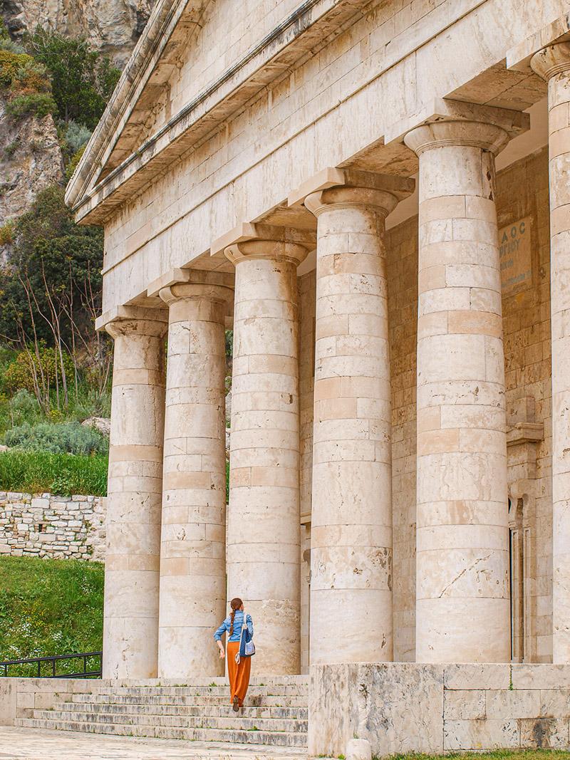 Kostol v starej pevnosti v meste Korfu.