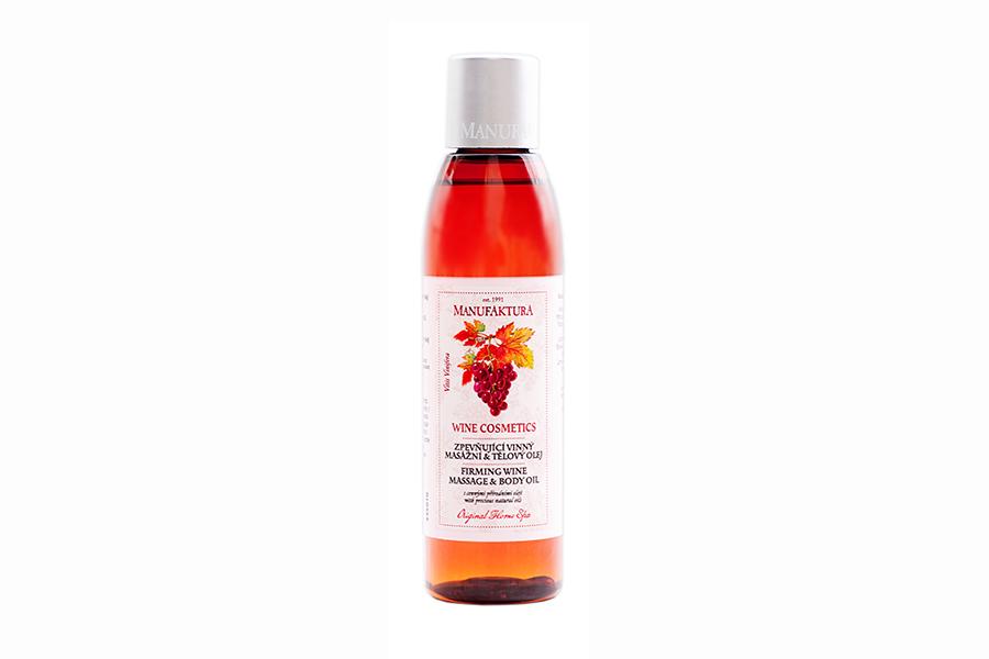 Spevňujúci vínny masážny & telový olej s cennými prírodnými olejmi, 155 ml, cena 7,15 €