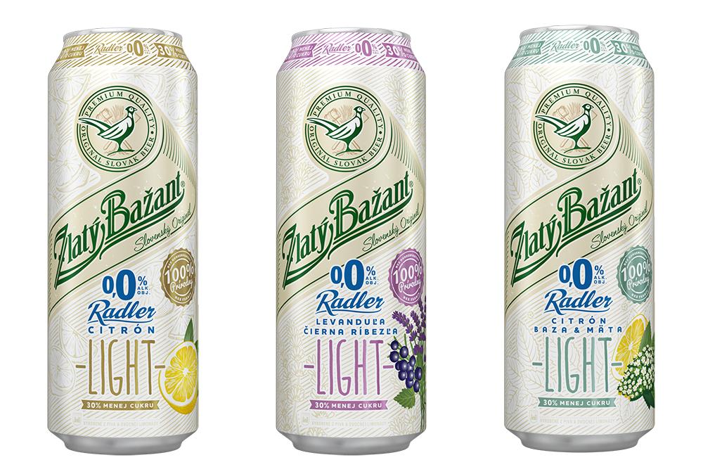 Radler 0,0 % je úplne bez alkoholu, konzervačných látok a umelých farbív a verzia Light s príchuťou citrón obsahuje len 4,75 g cukru na 100 ml.
