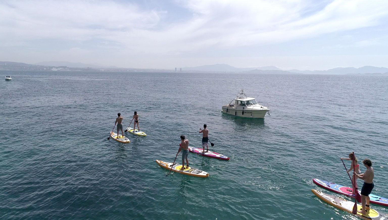 Paddleboardy na mori