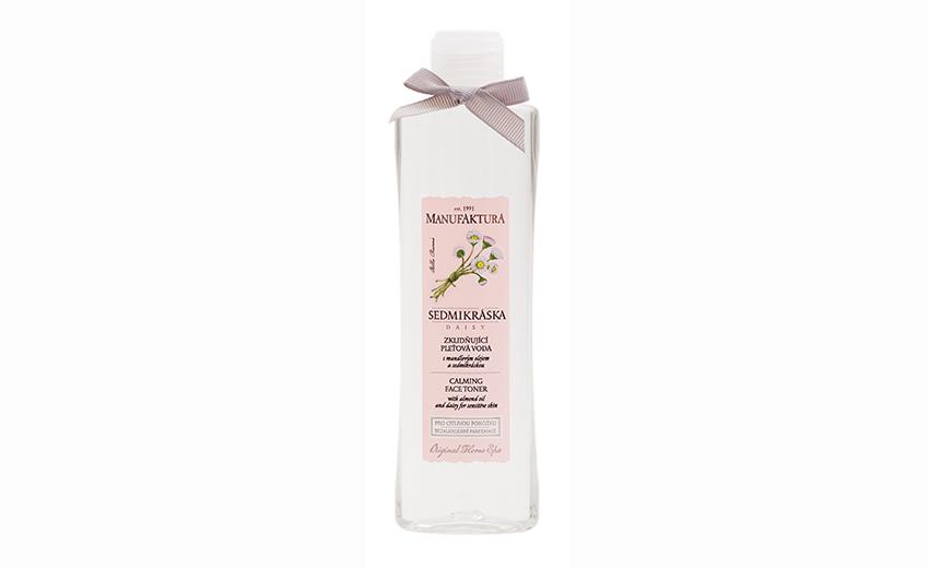 Upokojujúca pleťová voda s mandlovým olejem a sedmikráskou pre citlivú pokožku, cena 149 Kč