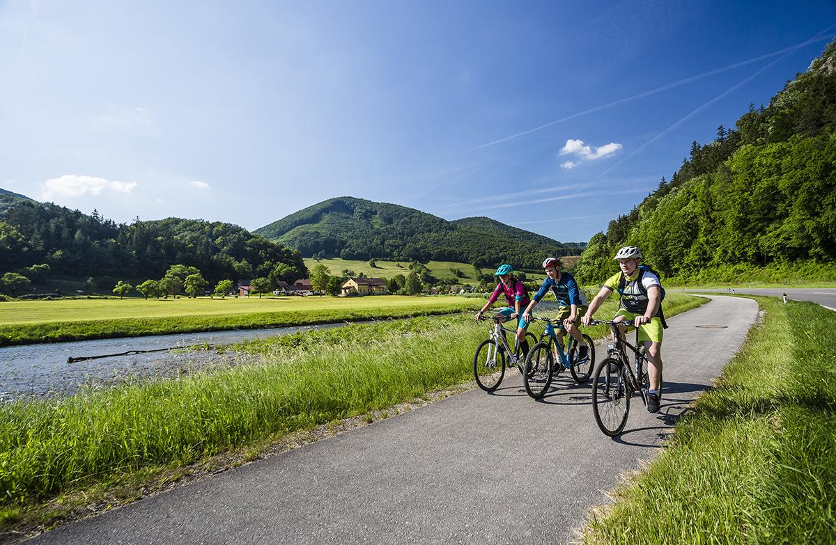 Traisentalská cyklotrasa. Foto: (c) Niederösterreich Werbung/ Martin Matula