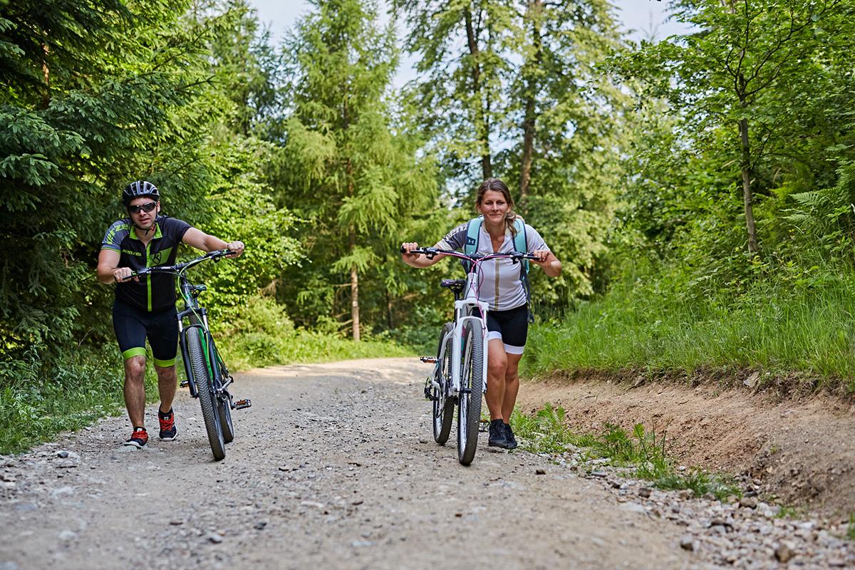 Na výber sú ľahšie aj ťažšie trasy, ale cesta na vrchol Martinských hôľ vám dá zabrať. Foto: Peter Drežík