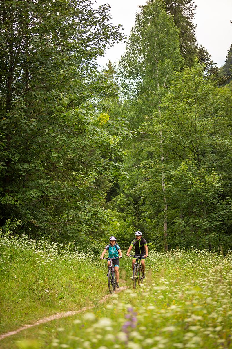 Jednou z najkrajších cyklotrás v Slovenskom raji je Glacká cesta. Foto: Miro Pochyba