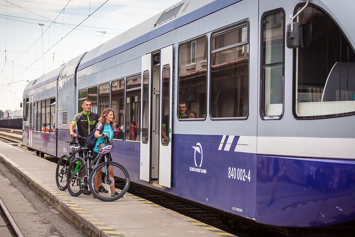 Do Spišskej Novej Vsi sme prišli aj s bicyklami vlakom. Foto: Miro Pochyba