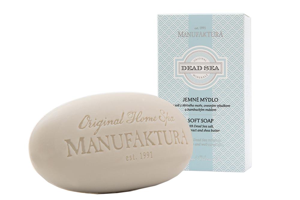 Jemné mydlo s bahnom z Mŕtveho mora, ovseným výtažkom a mandľovým olejom