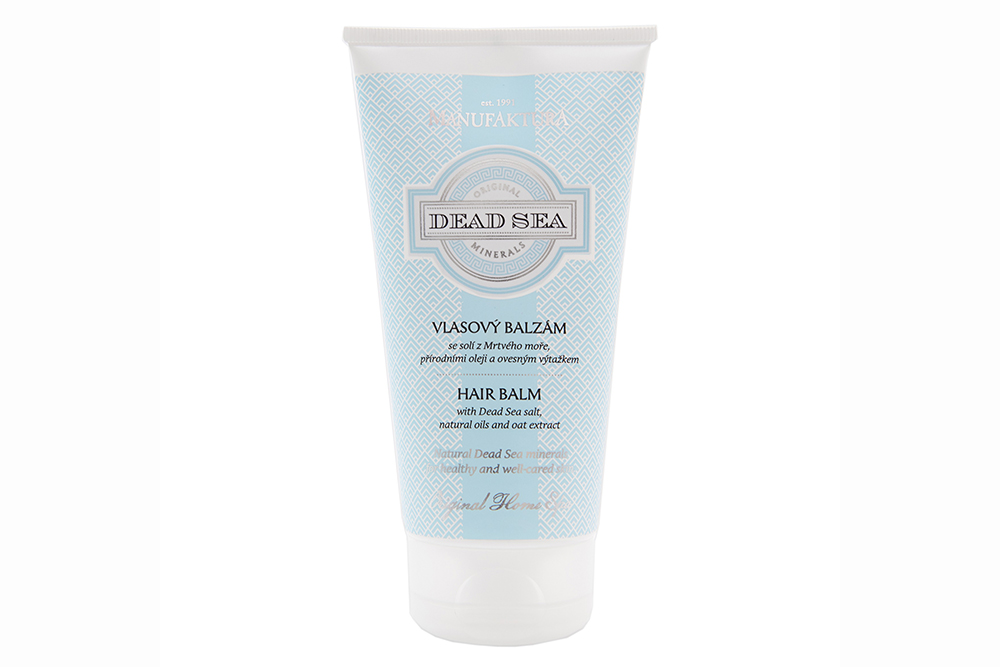 Vlasový balzam so soľou z Mŕtveho mora, prírodnými olejmi a ovseným výťažkom