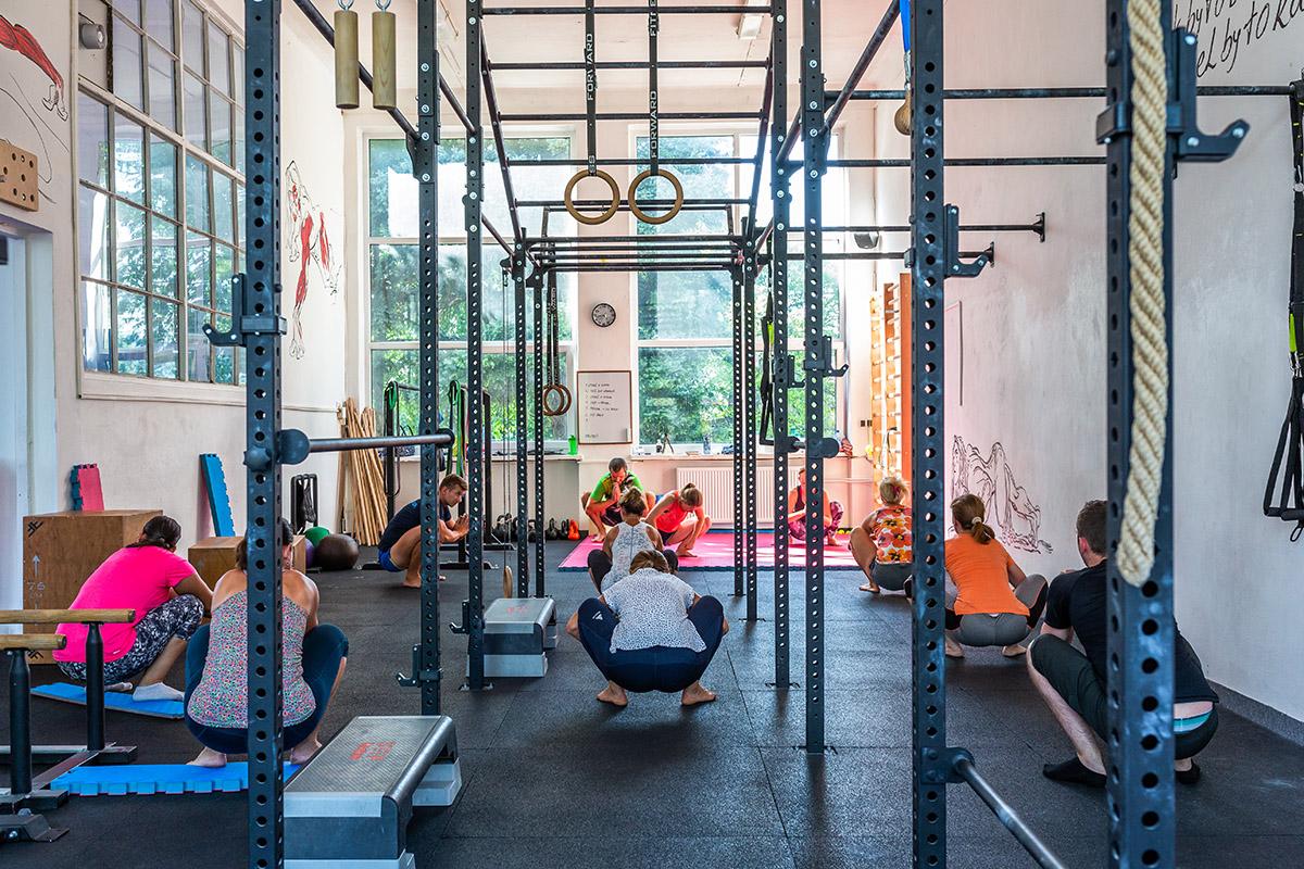 Na tréningu Rozhýb sa! v Nitre. Foto: Miro Pochyba
