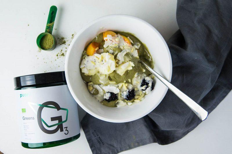 Zdravá zmrzlina s Power Cream a PUORI Greens. Foto: Powerlogy