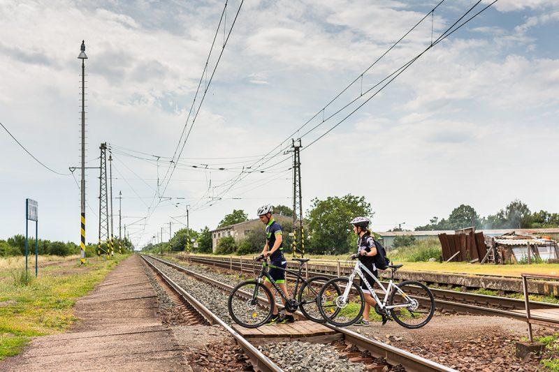 My sme náš cyklovýlet začali na stanici v Čerhove. Foto: Miro Pochyba