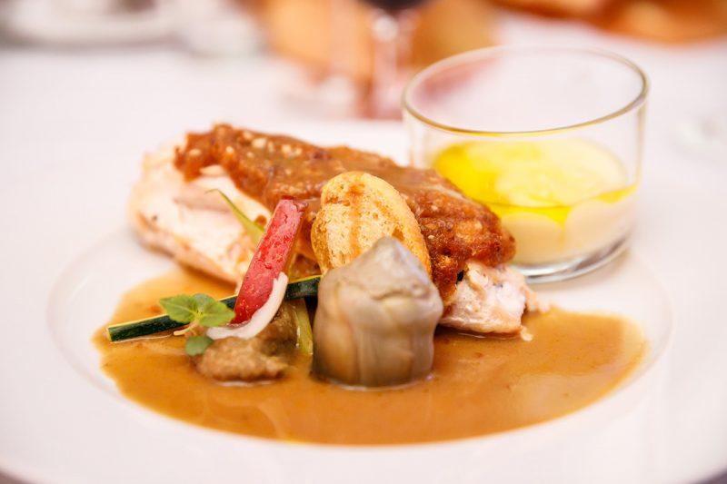 Večera od Steva Deconincka, najlepšieho šéfkuchára Blízkeho východu za rok 2017. Foto: DoubleTree by Hilton Bratislava