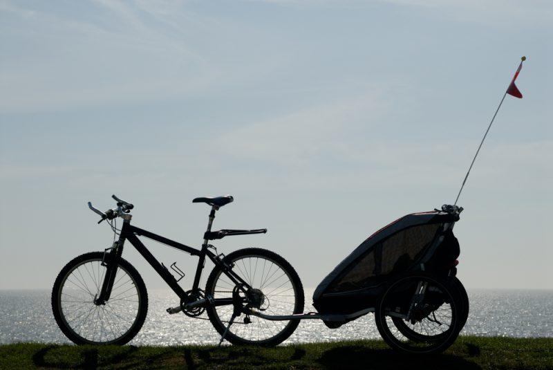 Ak sú vaše výlety na bicykli dlhšie a prenášate viac vecí, zabezpečte si cyklovozík. Foto: Shutterstock