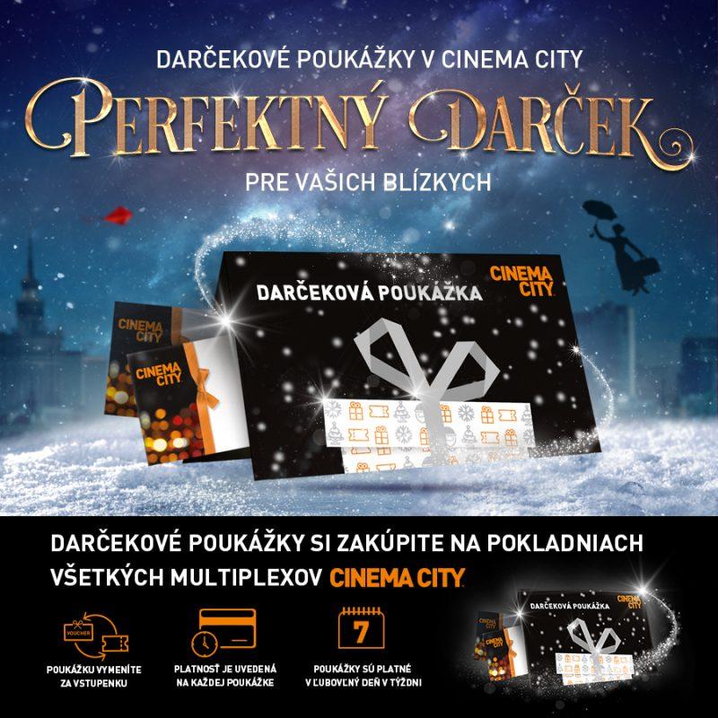Darujte ten správny darček - darčekovú kartu Cinema City
