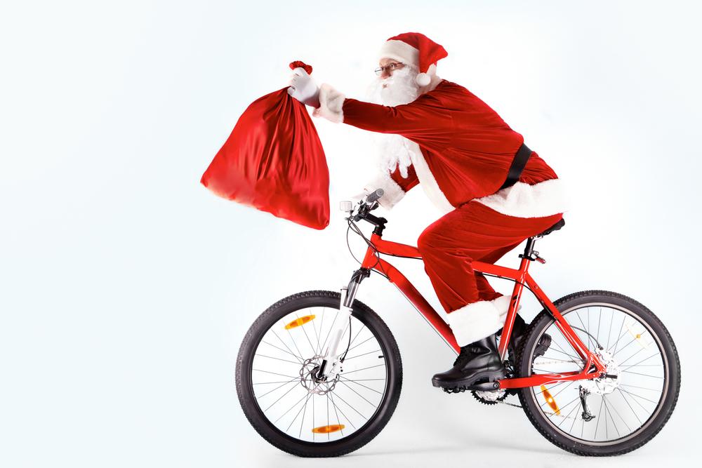 Mikuláš na bicykli. Foto: Shutterstock