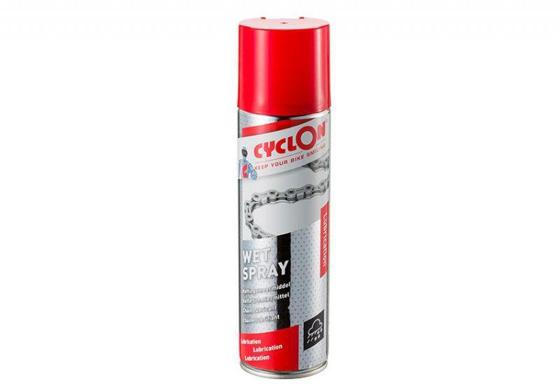Mazací olej v spreji s PTFE do náročných podmienok. Cyclon bike care wet spray