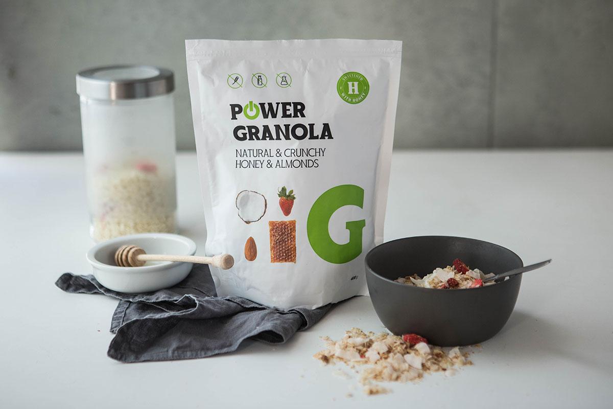 Unikátna bezlepková Power Granola. Foto: Powerlogy