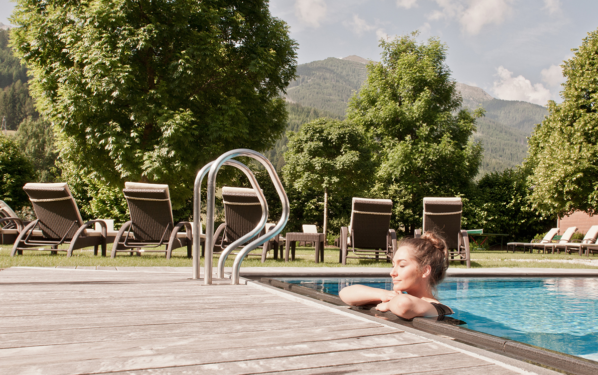 Bazén v Dolomiten Residenz Sillian. Foto: Schultz Gruppe