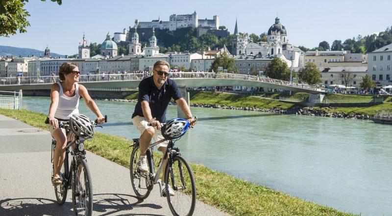 Bicyklovanie v Salzburgu. Foto: Tourismus Salzburg