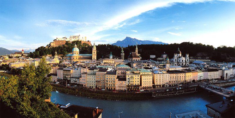 Panoráma mesta Salzburg. Foto: Popp Hackner