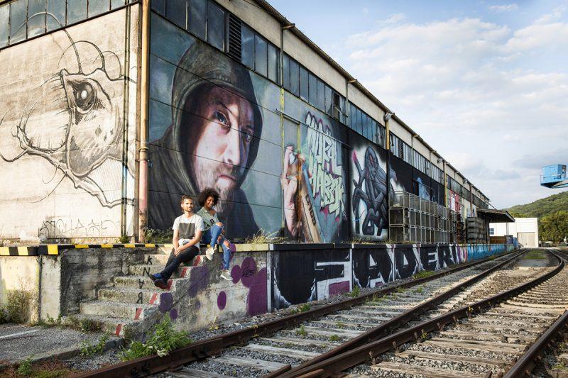 Graffiti, umenie v Linci. Foto: Linz Tourismus, Robert Josipovic