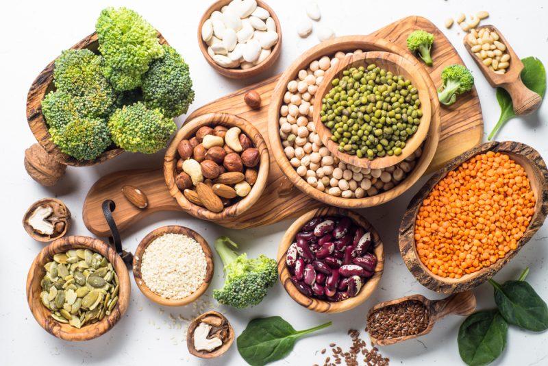 Proteíny sa nachádzajú aj v rastlinnej strave. Foto: Shutterstock