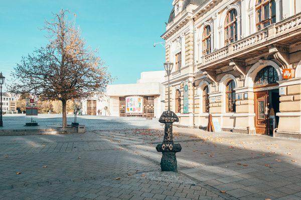 Ponitrianske múzeum a Svätoplukovo námestie. Foto: OOCR
