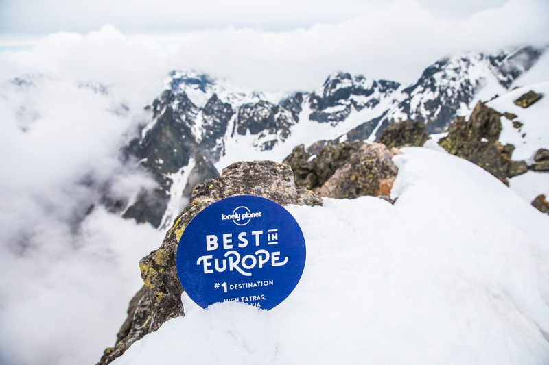 Ocenenie Best in Europe 2019 od Lonely Planet pre Vysoké Tatry. Foto: Filip Nagy