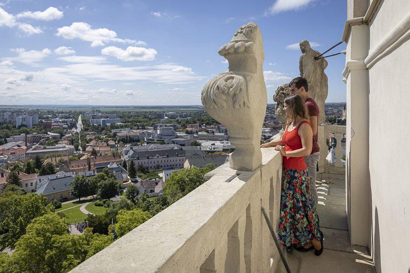 Výhľad z Nitrianskeho hradu. Foto: Miro Pochyba