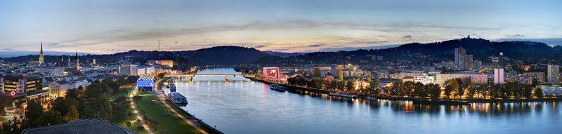 Panoráma mesta Linz