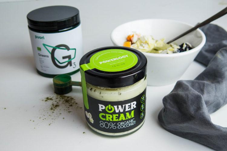 Power krém so zeleným smoothie. Foto: Powerlogy