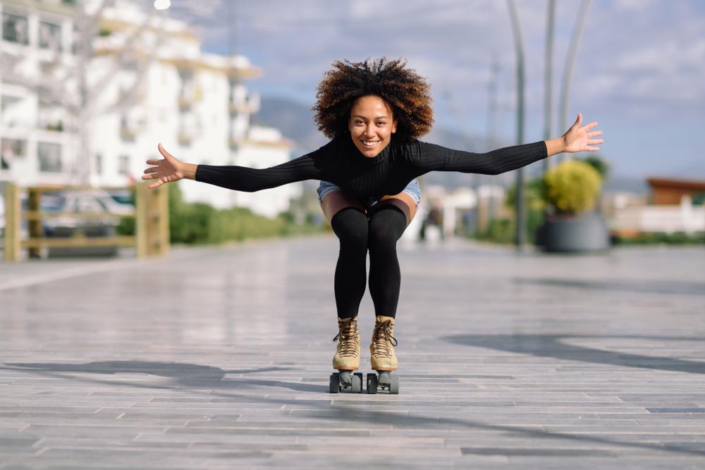 Brzdenie na korčuliach. Foto: Shutterstock