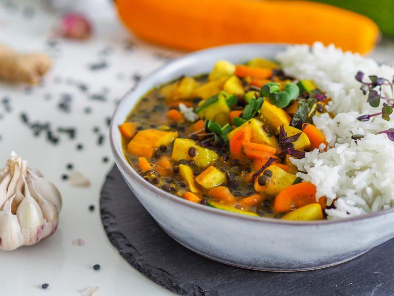 Vegetariánske karí s kurkumou. Foto: Powerlogy