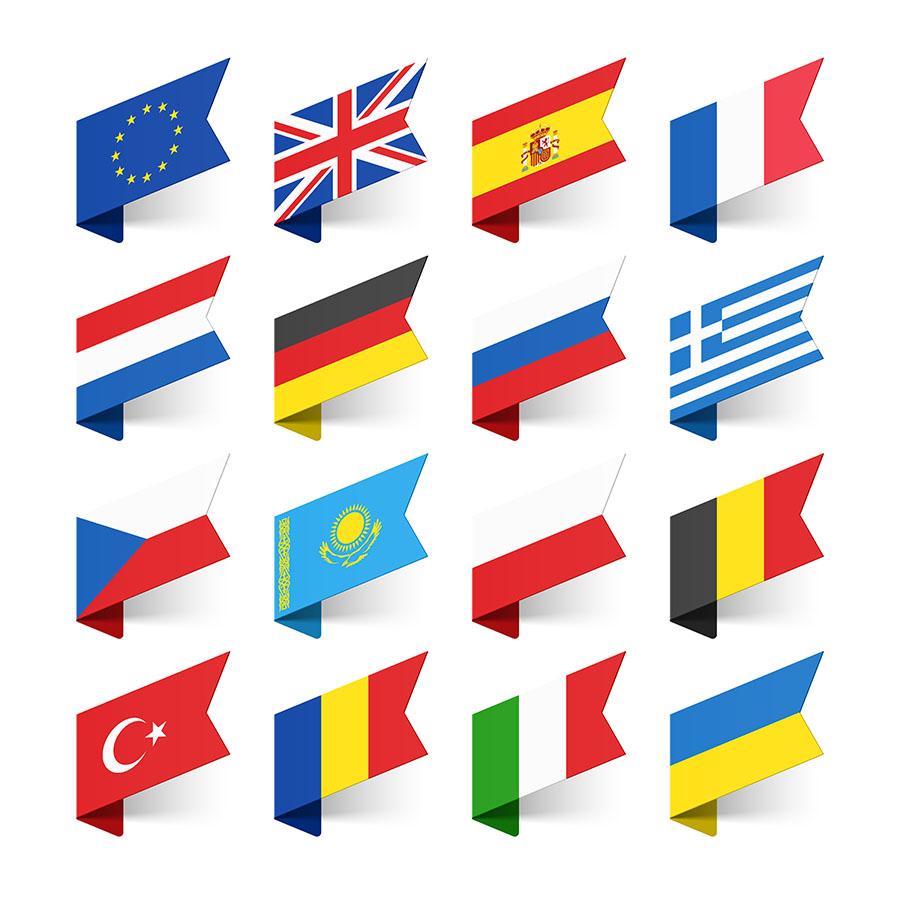 Vlajky európskych štátov. Foto: Shutterstock